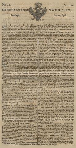 Middelburgsche Courant 1775-04-22