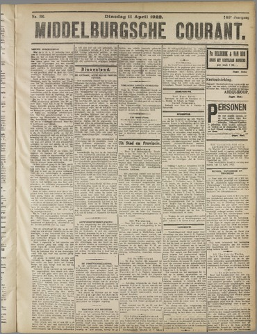 Middelburgsche Courant 1922-04-11