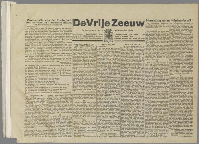 de Vrije Zeeuw 1944-11-16
