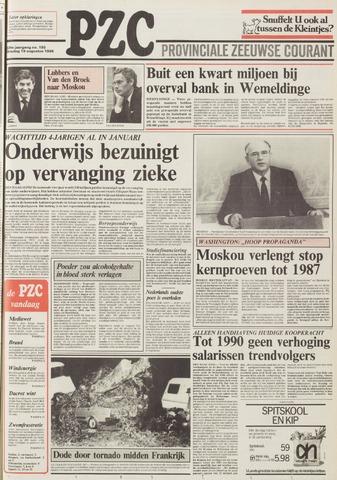 Provinciale Zeeuwse Courant 1986-08-19