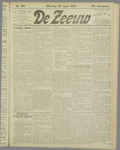 De Zeeuw. Christelijk-historisch nieuwsblad voor Zeeland 1917-04-24