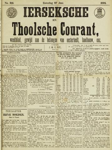 Ierseksche en Thoolsche Courant 1891-06-27