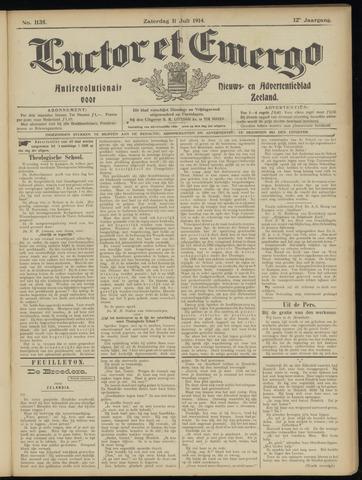 Luctor et Emergo. Antirevolutionair nieuws- en advertentieblad voor Zeeland / Zeeuwsch-Vlaanderen. Orgaan ter verspreiding van de christelijke beginselen in Zeeuwsch-Vlaanderen 1914-07-11