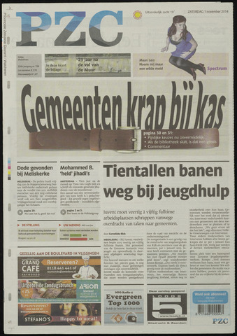 Provinciale Zeeuwse Courant 2014-11-01