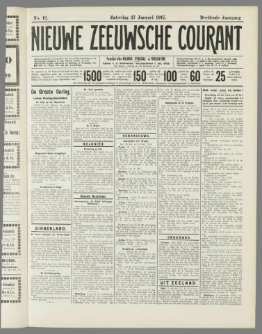 Nieuwe Zeeuwsche Courant 1917-01-27