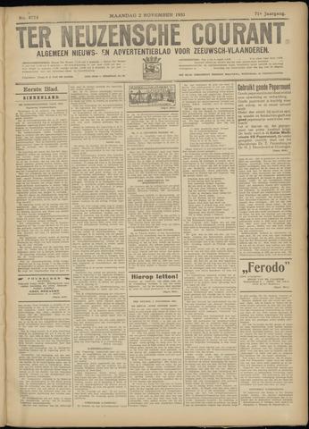 Ter Neuzensche Courant. Algemeen Nieuws- en Advertentieblad voor Zeeuwsch-Vlaanderen / Neuzensche Courant ... (idem) / (Algemeen) nieuws en advertentieblad voor Zeeuwsch-Vlaanderen 1931-11-02