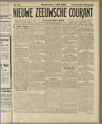 Nieuwe Zeeuwsche Courant 1918-07-04