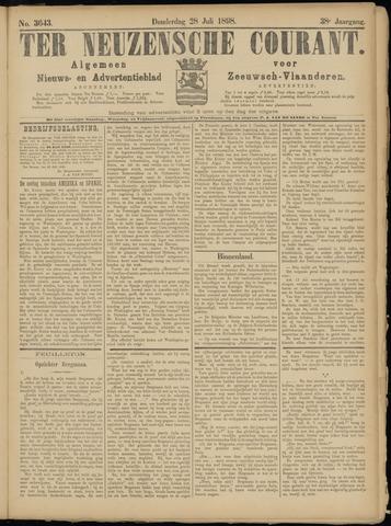 Ter Neuzensche Courant. Algemeen Nieuws- en Advertentieblad voor Zeeuwsch-Vlaanderen / Neuzensche Courant ... (idem) / (Algemeen) nieuws en advertentieblad voor Zeeuwsch-Vlaanderen 1898-07-28