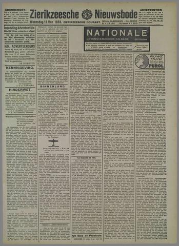 Zierikzeesche Nieuwsbode 1933-12-13