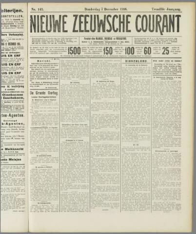 Nieuwe Zeeuwsche Courant 1916-12-07