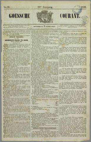 Goessche Courant 1856-02-07