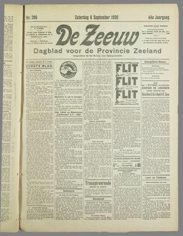 De Zeeuw. Christelijk-historisch nieuwsblad voor Zeeland 1930-09-06