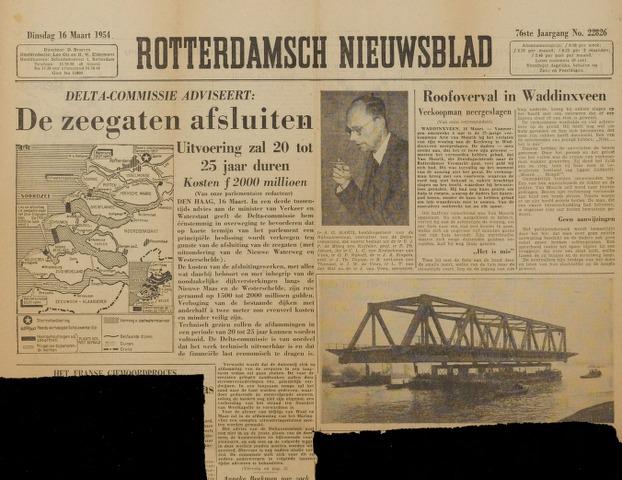 Watersnood documentatie 1953 - kranten 1954-03-16