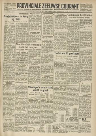 Provinciale Zeeuwse Courant 1947-11-17