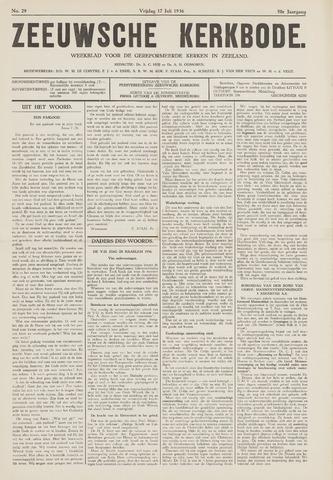 Zeeuwsche kerkbode, weekblad gewijd aan de belangen der gereformeerde kerken/ Zeeuwsch kerkblad 1936-07-17