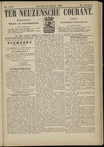 Ter Neuzensche Courant. Algemeen Nieuws- en Advertentieblad voor Zeeuwsch-Vlaanderen / Neuzensche Courant ... (idem) / (Algemeen) nieuws en advertentieblad voor Zeeuwsch-Vlaanderen 1882-10-21