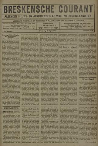 Breskensche Courant 1922-04-26