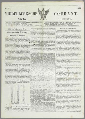 Middelburgsche Courant 1855-09-15