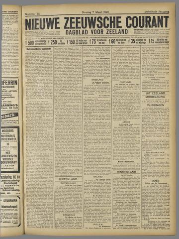 Nieuwe Zeeuwsche Courant 1922-03-07