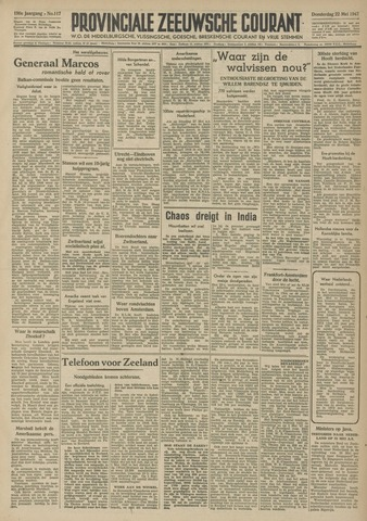 Provinciale Zeeuwse Courant 1947-05-22