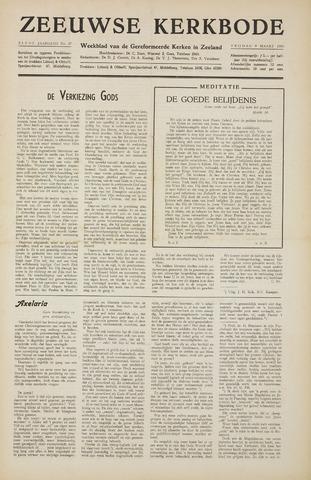 Zeeuwsche kerkbode, weekblad gewijd aan de belangen der gereformeerde kerken/ Zeeuwsch kerkblad 1956-03-09