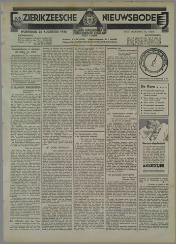 Zierikzeesche Nieuwsbode 1936-08-26