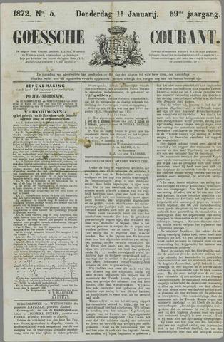 Goessche Courant 1872-01-11