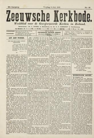 Zeeuwsche kerkbode, weekblad gewijd aan de belangen der gereformeerde kerken/ Zeeuwsch kerkblad 1915-07-09