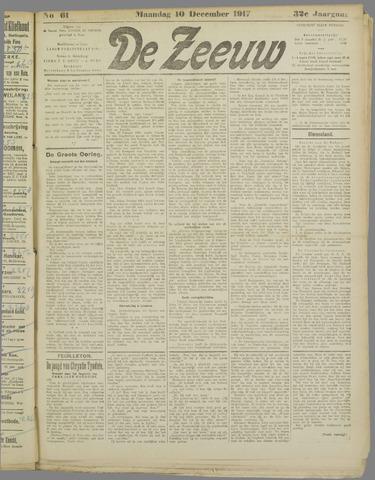 De Zeeuw. Christelijk-historisch nieuwsblad voor Zeeland 1917-12-10