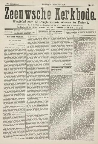Zeeuwsche kerkbode, weekblad gewijd aan de belangen der gereformeerde kerken/ Zeeuwsch kerkblad 1916-12-08