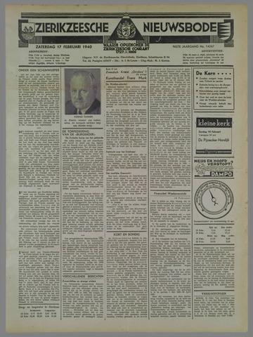 Zierikzeesche Nieuwsbode 1940-02-17