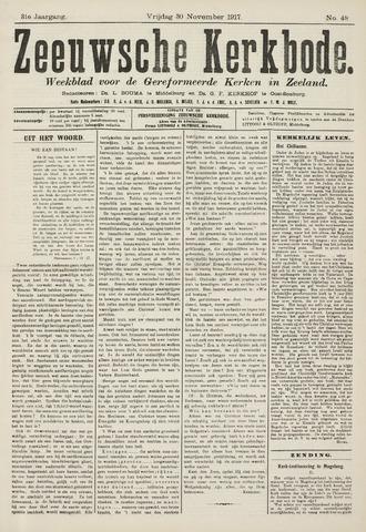 Zeeuwsche kerkbode, weekblad gewijd aan de belangen der gereformeerde kerken/ Zeeuwsch kerkblad 1917-11-30