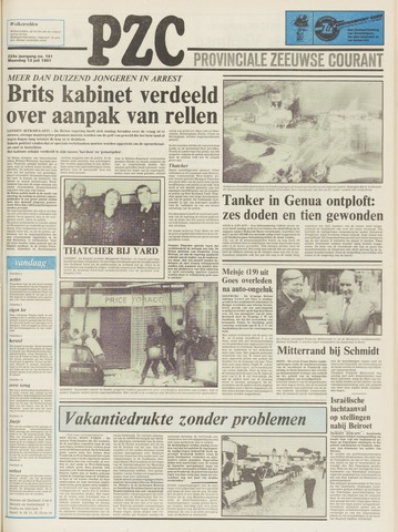 Provinciale Zeeuwse Courant 1981-07-13