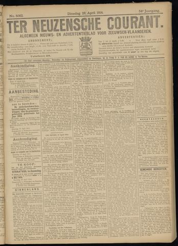 Ter Neuzensche Courant. Algemeen Nieuws- en Advertentieblad voor Zeeuwsch-Vlaanderen / Neuzensche Courant ... (idem) / (Algemeen) nieuws en advertentieblad voor Zeeuwsch-Vlaanderen 1914-04-28
