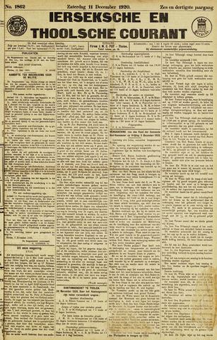 Ierseksche en Thoolsche Courant 1920-12-11