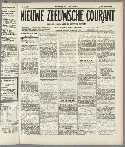 Nieuwe Zeeuwsche Courant 1909-04-10