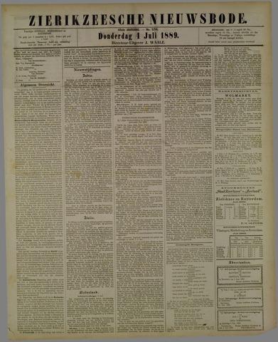 Zierikzeesche Nieuwsbode 1889-07-04