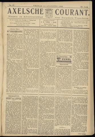 Axelsche Courant 1936-08-14