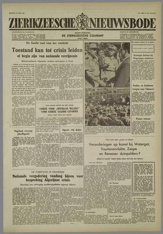 Zierikzeesche Nieuwsbode 1958-05-20