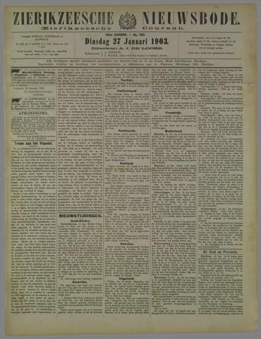 Zierikzeesche Nieuwsbode 1903-01-27