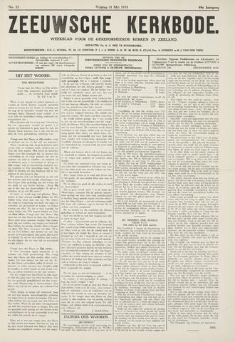 Zeeuwsche kerkbode, weekblad gewijd aan de belangen der gereformeerde kerken/ Zeeuwsch kerkblad 1935-05-31