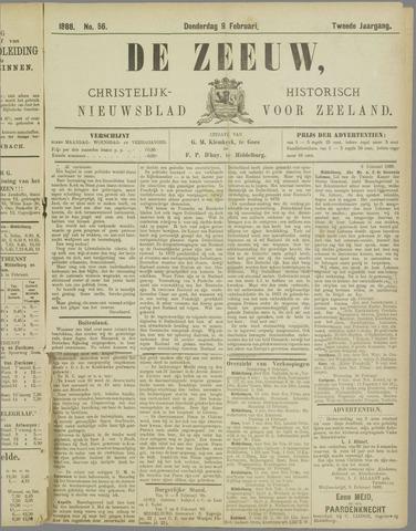 De Zeeuw. Christelijk-historisch nieuwsblad voor Zeeland 1888-02-09