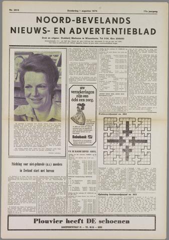 Noord-Bevelands Nieuws- en advertentieblad 1974-08-01