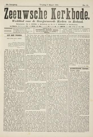 Zeeuwsche kerkbode, weekblad gewijd aan de belangen der gereformeerde kerken/ Zeeuwsch kerkblad 1915-03-05