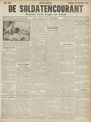 De Soldatencourant. Orgaan voor Leger en Vloot 1917-02-18