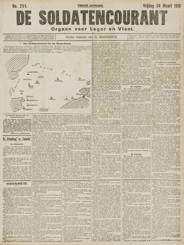 De Soldatencourant. Orgaan voor Leger en Vloot 1916-03-24