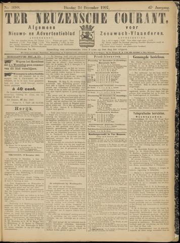 Ter Neuzensche Courant. Algemeen Nieuws- en Advertentieblad voor Zeeuwsch-Vlaanderen / Neuzensche Courant ... (idem) / (Algemeen) nieuws en advertentieblad voor Zeeuwsch-Vlaanderen 1907-12-24