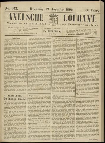 Axelsche Courant 1892-08-17