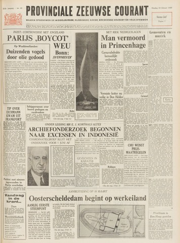 Provinciale Zeeuwse Courant 1969-02-18