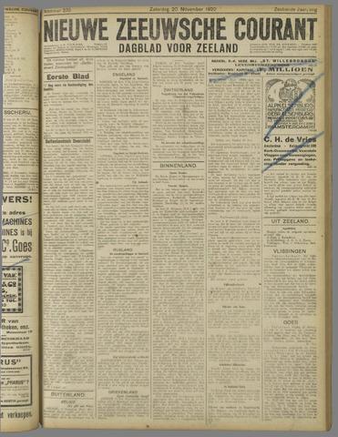 Nieuwe Zeeuwsche Courant 1920-11-20